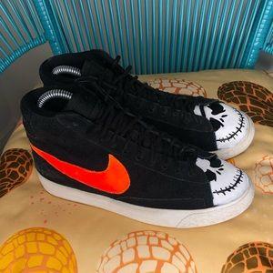 Nike Blazer Mid Jack Skellington Custom Painted 🎃